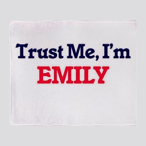 Trust Me, I'm Emily Throw Blanket