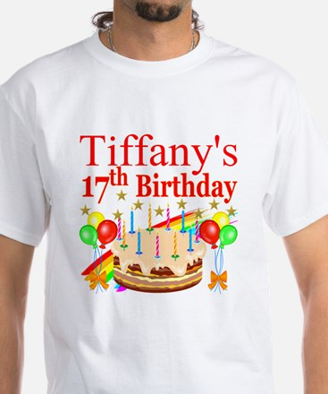 PERSONALIZED 17TH White T-Shirt