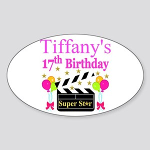 PERSONALIZED 17TH Sticker (Oval)
