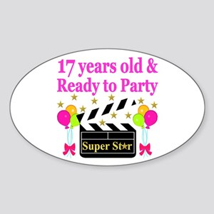 17TH BIRTHDAY Sticker (Oval)