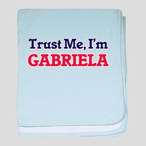 Trust Me, I'm Gabriela baby blanket
