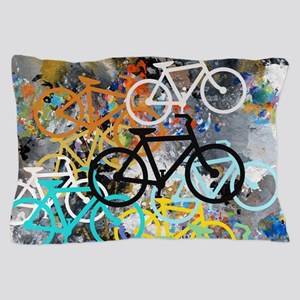 Bicycles Art Pillow Case