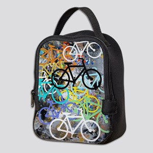 Bicycles Art Neoprene Lunch Bag