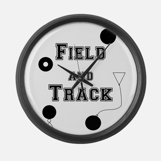 Field And Track Thrower Large Wall Clock