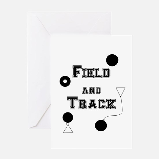 Field And Track Thrower Greeting Cards