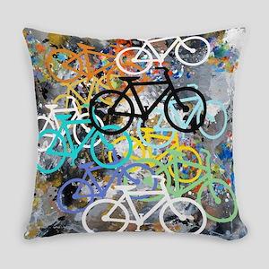 Bicycles Art Everyday Pillow