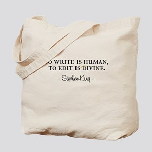 To Write is Human Tote Bag