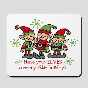 Merry Elves Mousepad