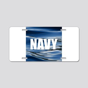 Navy Aluminum License Plate