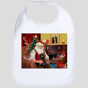 Santa's Dachshund (LH-B) Bib