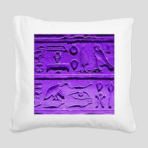 Hieroglyphs20160303 Square Canvas Pillow