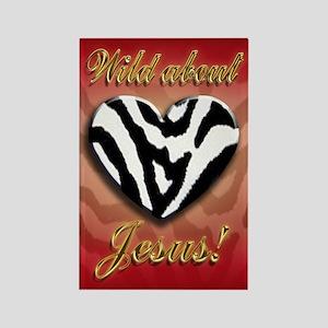 Wild About Jesus Zebra magnet