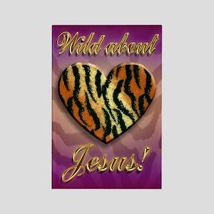 Wild About Jesus Tiger magnet