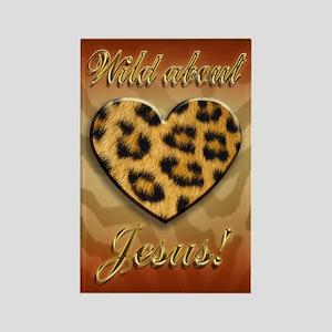 Wild About Jesus Leopard magnet