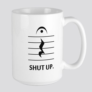 Shut Up by Music Notation Mugs