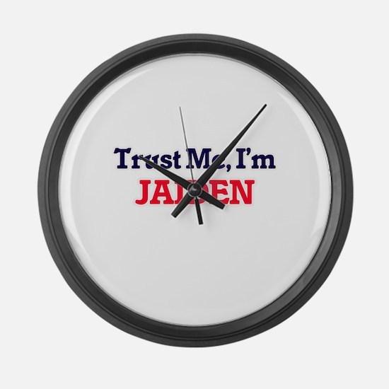 Trust Me, I'm Jaiden Large Wall Clock