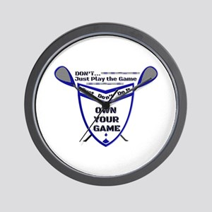 OWN YOUR GAME dbws Wall Clock
