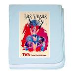 TWA Fly to Las Vegas Vintage Art Print baby blanke