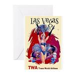 TWA Fly to Las Vegas Vintage Art Print Greeting Ca