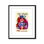 TWA Fly to Las Vegas Vintage Art Print Framed Pane