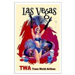 TWA Fly to Las Vegas Vintage Art Print Poster