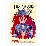 TWA Fly to Las Vegas Vintage Art Print Small Poste