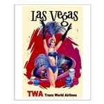 TWA Fly to Las Vegas Vintage Art Print Small Poste