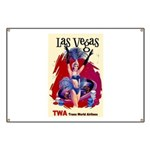 TWA Fly to Las Vegas Vintage Art Print Banner
