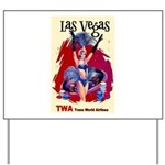TWA Fly to Las Vegas Vintage Art Print Yard Sign