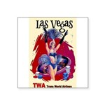 TWA Fly to Las Vegas Vintage Art Print Sticker