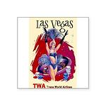 TWA Fly to Las Vegas Vintage Art Print Sticker