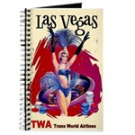 TWA Fly to Las Vegas Vintage Art Print Journal