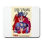 TWA Fly to Las Vegas Vintage Art Print Mousepad