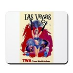 TWA Fly to Las Vegas Vintage Art Print Mousepad