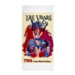 TWA Fly to Las Vegas Vintage Art Print Beach Towel