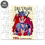 TWA Fly to Las Vegas Vintage Art Print Puzzle