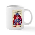 TWA Fly to Las Vegas Vintage Art Print Mugs