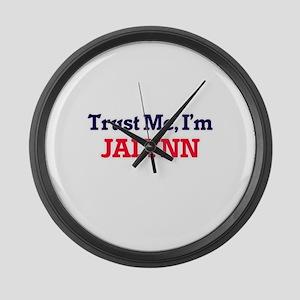 Trust Me, I'm Jalynn Large Wall Clock