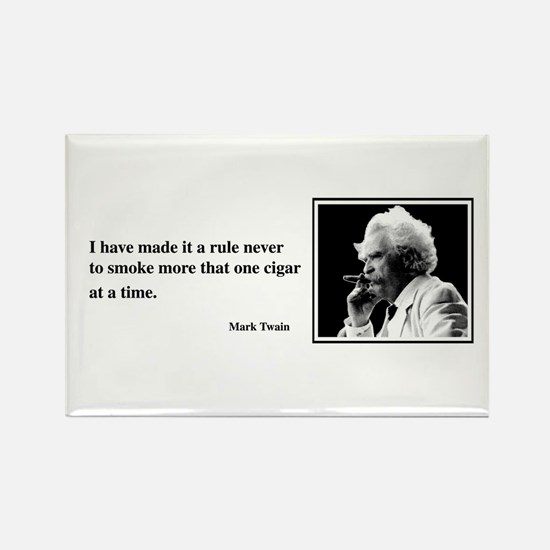 One Cigar At a Time Rectangle Magnet