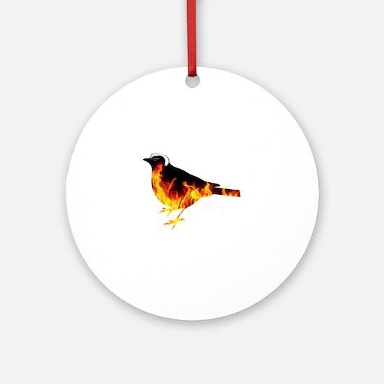 Feel the Bern Bird Round Ornament