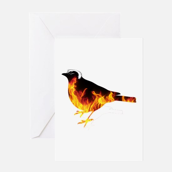 Feel the Bern Bird Greeting Cards