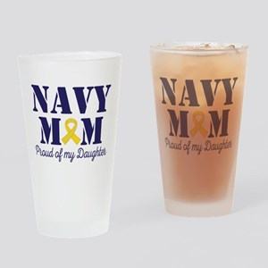 Navy Mom Proud Of Daughter Drinking Glass