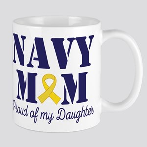 Navy Mom Proud Of Daughter Mugs