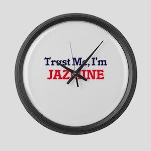 Trust Me, I'm Jazmine Large Wall Clock