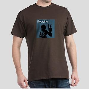 iMagine Peace - Siloette - Blue Dark T-Shirt