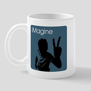 iMagine Peace - Siloette - Blue Mug