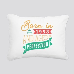 1958 Aged to Perfection Rectangular Canvas Pillow