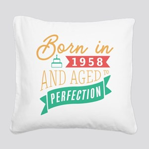 1958 Aged to Perfection Square Canvas Pillow