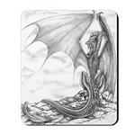 """""""Watch Dragon"""" Dragon Drawing Mousepad"""