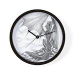 """Watch Dragon"" Dragon Drawing Clock, Black Dragon"